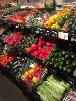 Haarlem (Netherlands) Perfectly designed vegetables in a Dutch supermarket
