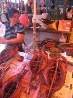 Tomohon (Indonesia) Local caught and prepared fish